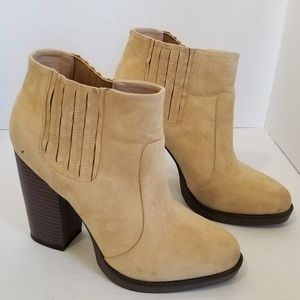 ZARA Trafaluc Suede Ankle Boots Bootie Size 10 40